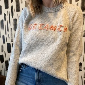 "Madewell ""DREAMER"" sweater"
